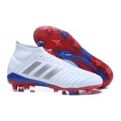 Nuevo Zapatillas de fútbol adidas Predator Telstar 18.1 FG Rojo Plateado Azul