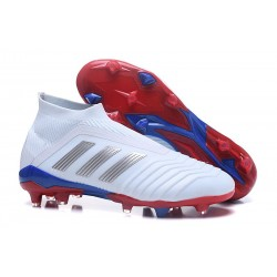Nuevo Botas de fútbol Adidas Predator Telstar 18+ FG Rojo Plateado Azul