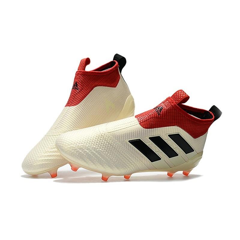 online store d36db d5926 Baratas Botas de fútbol adidas Ace 17+ Purecontrol FG Blanco Negro Rojo  Ampliar. Anterior. Siguiente