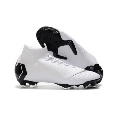 Zapatillas de fútbol Nike Mercurial Superfly VI 360 Elite FG Para Hombre Blanco Negro