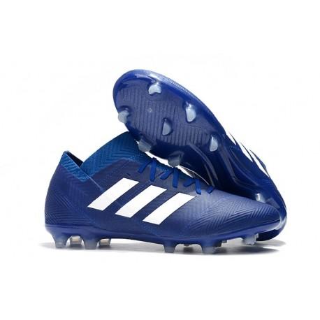 Zapatillas de fútbol Adidas Nemeziz Messi 18.1 FG Azul Blanco