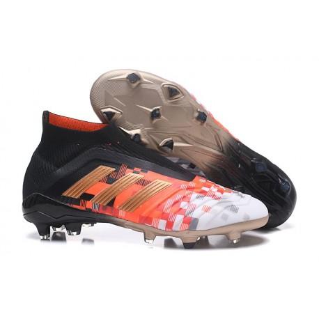Zapatillas de fútbol Adidas Predator Telstar 18+ FG Para Hombre Negro Cobre Gris
