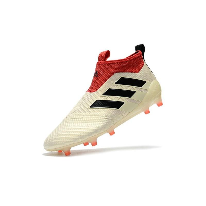 online store f39fc 37330 Baratas Botas de fútbol adidas Ace 17+ Purecontrol FG Blanco Negro Rojo  Ampliar. Anterior. Siguiente