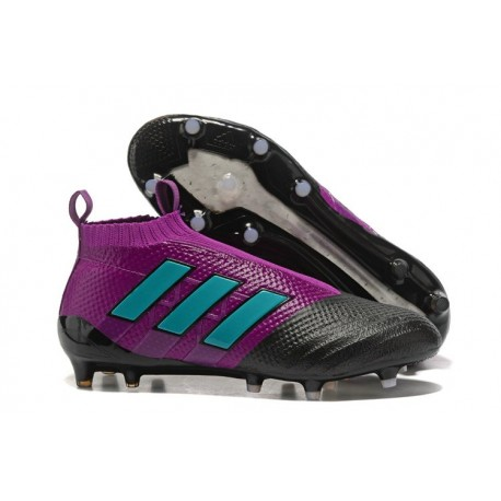 Tacos de futbol adidas Ace 17+ Purecontrol FG Púrpura Azul Negro