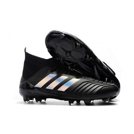 Tacos de Botas de Futbol Adidas Predator 18.1 FG Plata negra