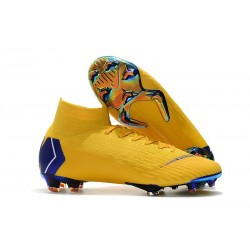 Zapatos Futbol Nike Mercurial Superfly VI 360 Elite FG Amarillo Azul