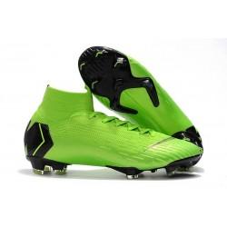Tacón de Fútbol Nike Mercurial Superfly VI 360 Elite FG Verde Negro
