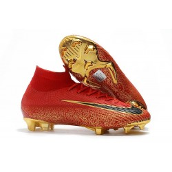 Botines Futbol Nike Mercurial Superfly VI 360 Elite FG Oro Negro Rojo