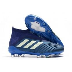 Nuevo Botas de fútbol Adidas Predator 18+ FG Azul Blanco