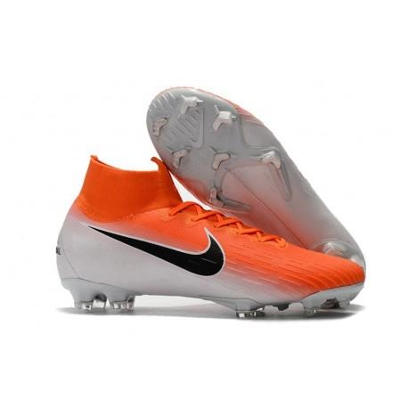 Baratas Zapatillas de fútbol Nike Mercurial Superfly VI 360 Elite FG Naranja Blanco