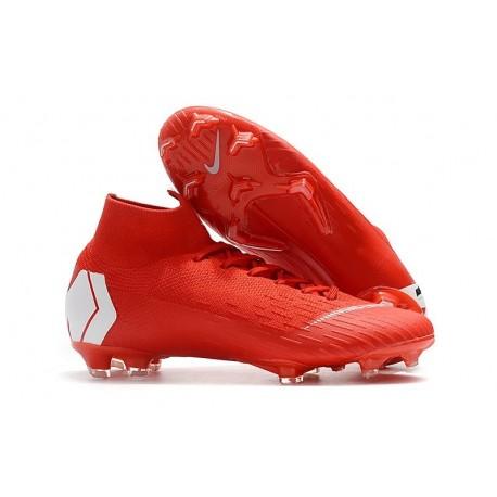 Baratas Zapatillas de fútbol Nike Mercurial Superfly VI 360 Elite FG Rojo Blanco