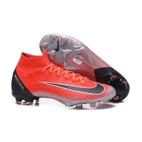 Baratas Zapatillas de fútbol Nike Mercurial Superfly VI 360 Elite FG Rojo Negro