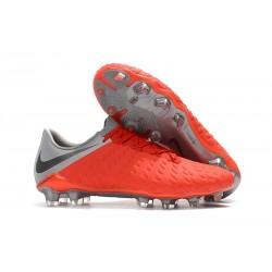 Botas de fútbol Baratas Nike HyperVenom Phantom III FG Rojo Gris