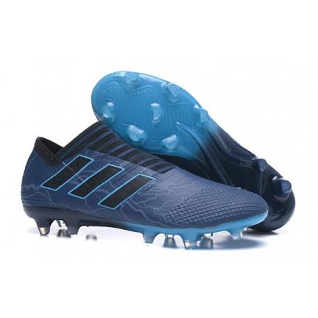 Baratas Botas de fútbol Adidas Nemeziz 17+ 360 Agility FG Negro Azul