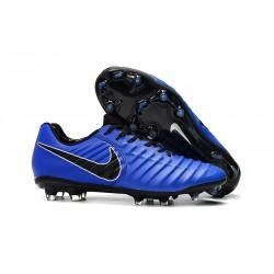 Zapatillas de fútbol Nike Tiempo Legend VII FG Azul Negro