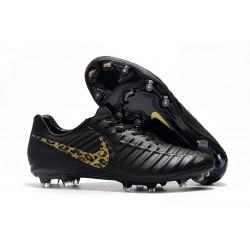 Botas de fútbol Nike Tiempo Legend VII FG Para Hombre Leopardo De Oro Negro