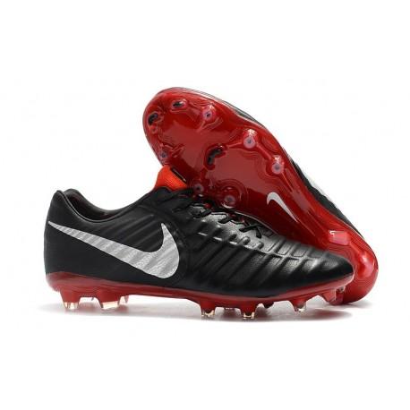 Botas de fútbol Nike Tiempo Legend VII Botas de Tacos Negro Rojo Plata