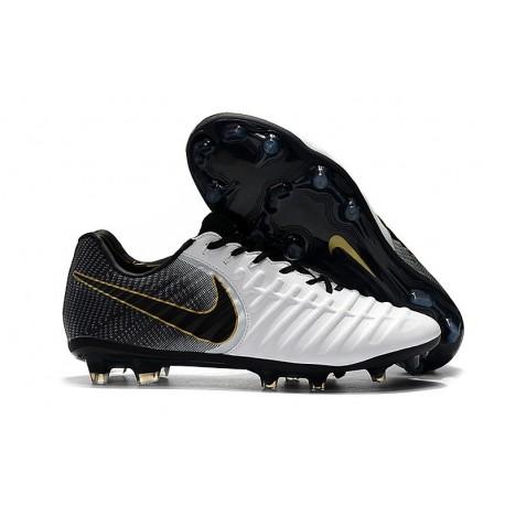 Botas de fútbol Nike Tiempo Legend VII FG Para Hombre Blanco Negro Oro