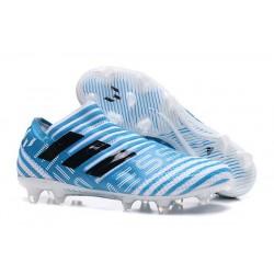Baratas Botas de fútbol Adidas Nemeziz 17+ 360 Agility FG Blanco Azul Negro