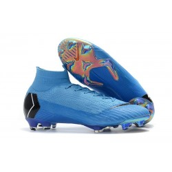 Baratas Zapatillas de fútbol Nike Mercurial Superfly VI 360 Elite FG Azul Negro