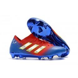 Zapatillas de fútbol Adidas Nemeziz Messi 18.1 FG Rojo Azul Plata