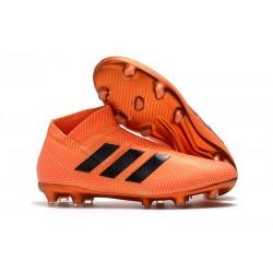 Zapatillas de fútbol adidas Nemeziz 18+ FG - Negro Naranja