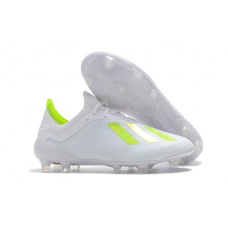 Botas Baratas - Zapatillas de fútbol Adidas X 18.1 FG Blanco Amarillo