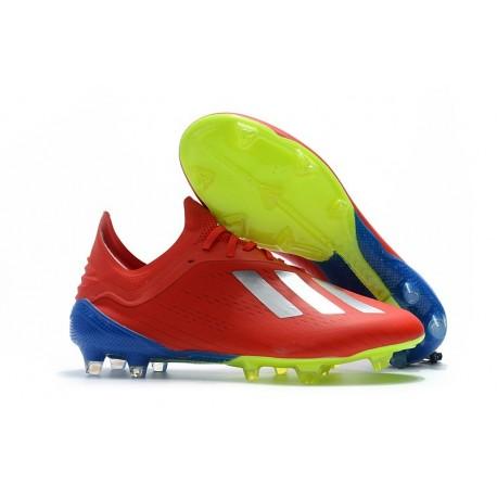 Botas Baratas - Zapatillas de fútbol Adidas X 18.1 FG Plata Rojo