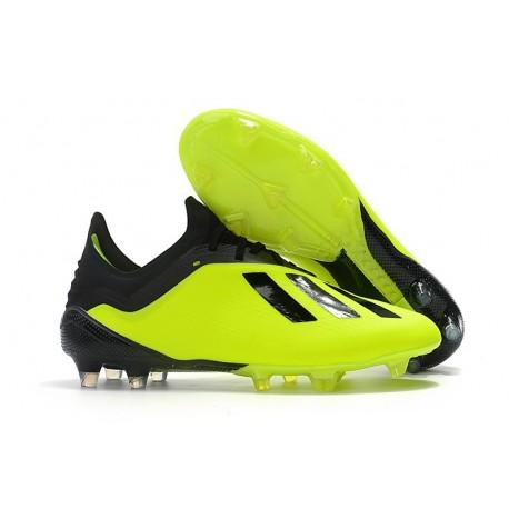 Botas Baratas - Zapatillas de fútbol Adidas X 18.1 FG Amarillo Negro