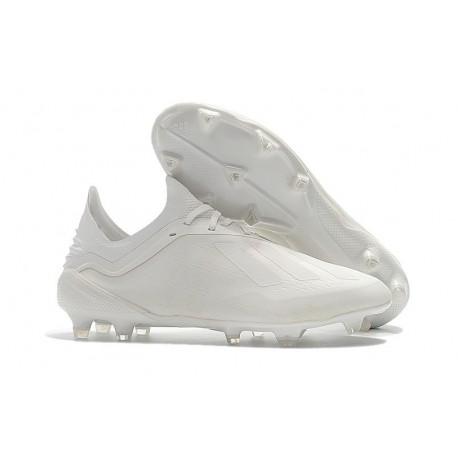 Botas Baratas - Zapatillas de fútbol Adidas X 18.1 FG Todo Blanco