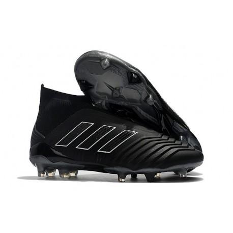 Nuevo Zapatillas de fútbol Adidas Predator 18+ FG Todo Negro