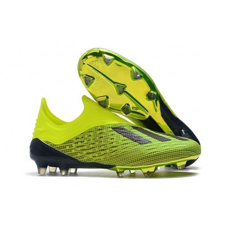 Zapatillas de fútbol Baratas Adidas X 18+ FG Solar Amarillo Core Negro