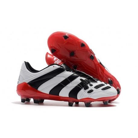 Nuevo Botas de fútbol Adidas Predator Accelerator Electricity FG Blanco Negro Rojo