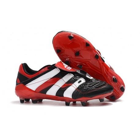 Nuevo Botas de fútbol Adidas Predator Accelerator Electricity FG Negro Blanco Rojo