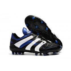Nuevo Botas de fútbol Adidas Predator Accelerator Electricity FG Negro Blanco Azul