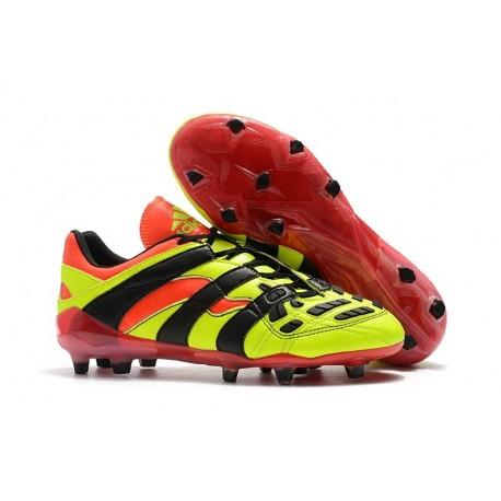 Nuevo Botas de fútbol Adidas Predator Accelerator Electricity FG Amarillo Rojo Negro