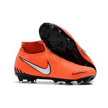 Botas de fútbol Nike Phantom VSN Elite DF FG Rojo Negro Blanco