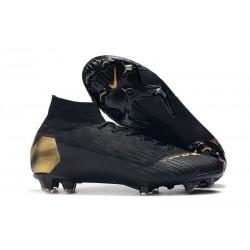 Baratas Zapatillas de fútbol Nike Mercurial Superfly VI 360 Elite FG Oro Negro