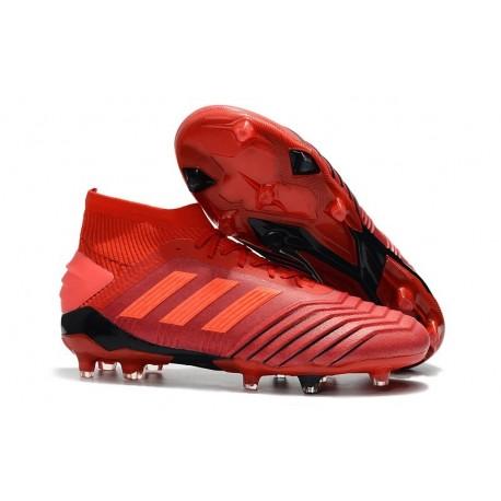 Botas de fútbol Baratas adidas Predator 19.1 FG Rojo Rojo Solar Negro