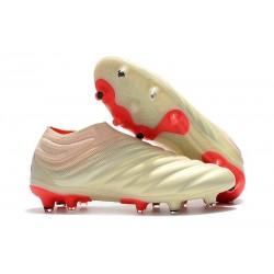 Zapatillas de fútbol Adidas Copa 19+ FG Blanco Rojo