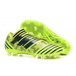 Zapatos de fútbol Baratas Adidas Nemeziz 17+ 360 Agility FG Amarillo Negro