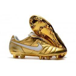 Zapatillas de fútbol Nike Tiempo Legend VII R10 Elite FG Blanco Oro
