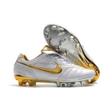 Botas de fútbol Nike Tiempo Legend VII R10 Elite FG Oro Blanco