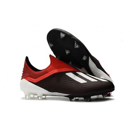 Zapatillas de fútbol Baratas Adidas X 18+ FG Negro Rojo Blanco