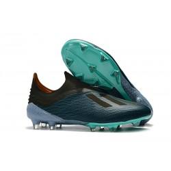 Zapatillas de fútbol Baratas Adidas X 18+ FG Azul Negro