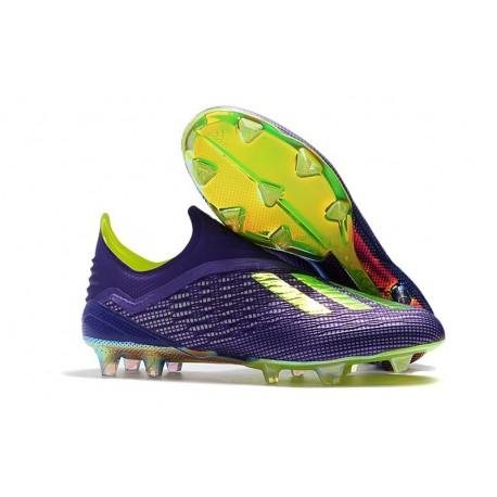 Zapatillas de fútbol Baratas Adidas X 18+ FG Púrpura Verde
