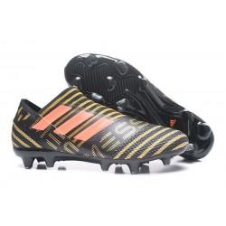 Botas de fútbol para Hombre Adidas Nemeziz 17+ 360 Agility FG Negro Rojo Dorado