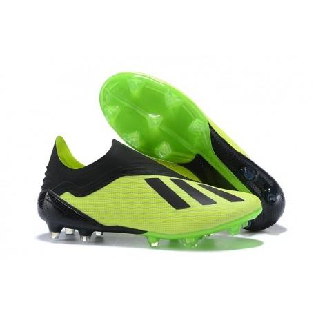 Zapatillas de fútbol Baratas Adidas X 18+ FG Verde Eléctrico Negro Lima