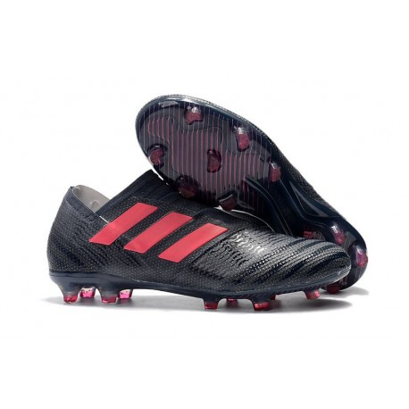 Zapatos de fútbol Adidas Nemeziz 17+ 360 Agility FG Negro Rosa