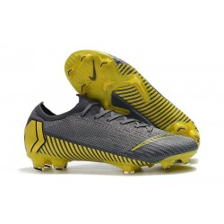 Nuevas Botas Nike Mercurial Vapor 12 Elite FG Gris Negro Gris Oscuro